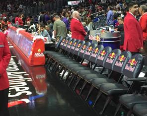 SportsVenuePadding.com   Basketball court   Padded announcers booth   Post padding   Custom seat covers   Landing pads & mats