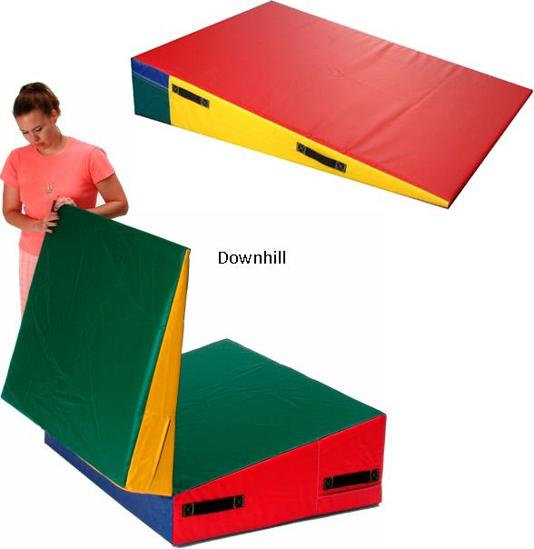 Downhill activity mats - Gymnastics - vinyl covered foam - Custom graphics available