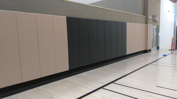 SportsVenuePadding.com   Gymnasium wall padding