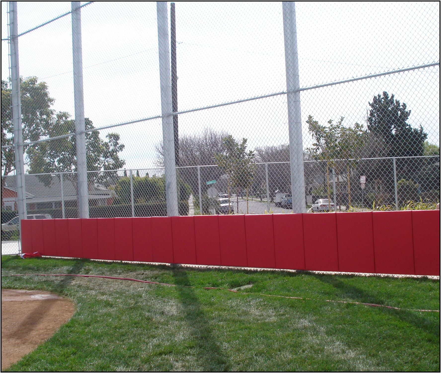 Baseball Woodbacked Backstop Padding