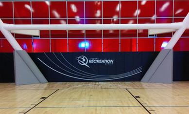 SportsVenuePadding.com   Cal. State Northridge University   Collegiate   CSUN   Basketball Court Athletic facility padding   Wall padding   Post padding