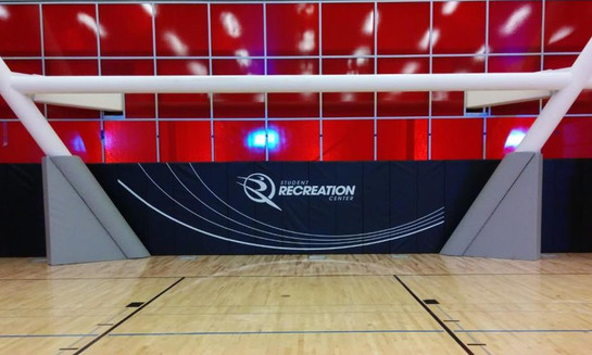 SportsVenuePadding.com | Cal. State Northridge University | Collegiate | CSUN | Collegiate | Basketball Court Athletic facility padding | Wall padding | Post padding