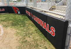 Wood-Backed Backstop Padding   Baseball Field Padding