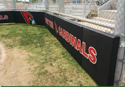 SportsVenuePadding.com | Cardinals Infield Pads | Baseball | Softball | Stadium padding | School | Facility Protective Padding | Post pads | Backstop | Dugout | Bullpen padding | Rail pads