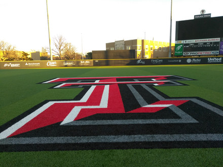 SportsVenuePadding.com | Texas Tech Baseball outfield wall padding | Field Pads