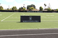 SportsVenuePadding.com | Servite | football field padding | windscreen | High School | Stadium padding | Facility | Protective Padding | Post pads | A-Frame | Rail pads