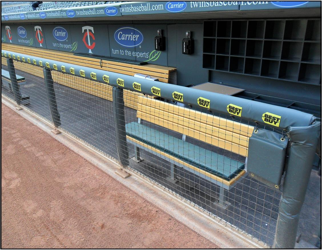 Dugout Rail Padding | Baseball Field