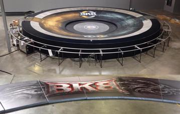 SportsVenuePadding.com   BKB Mixed Martial Arts landing mats   MMA  Protective cage & wall padding