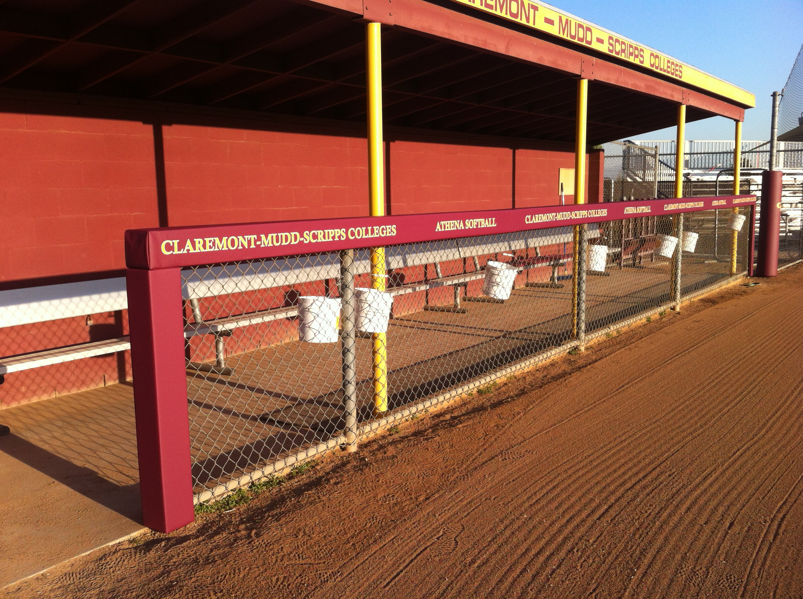 Baseball Square Dugout Rail Padding