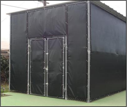 SportsVenuePadding.com   Windscreen   Outdoor structure   Fence screen   Privacy   Tennis court