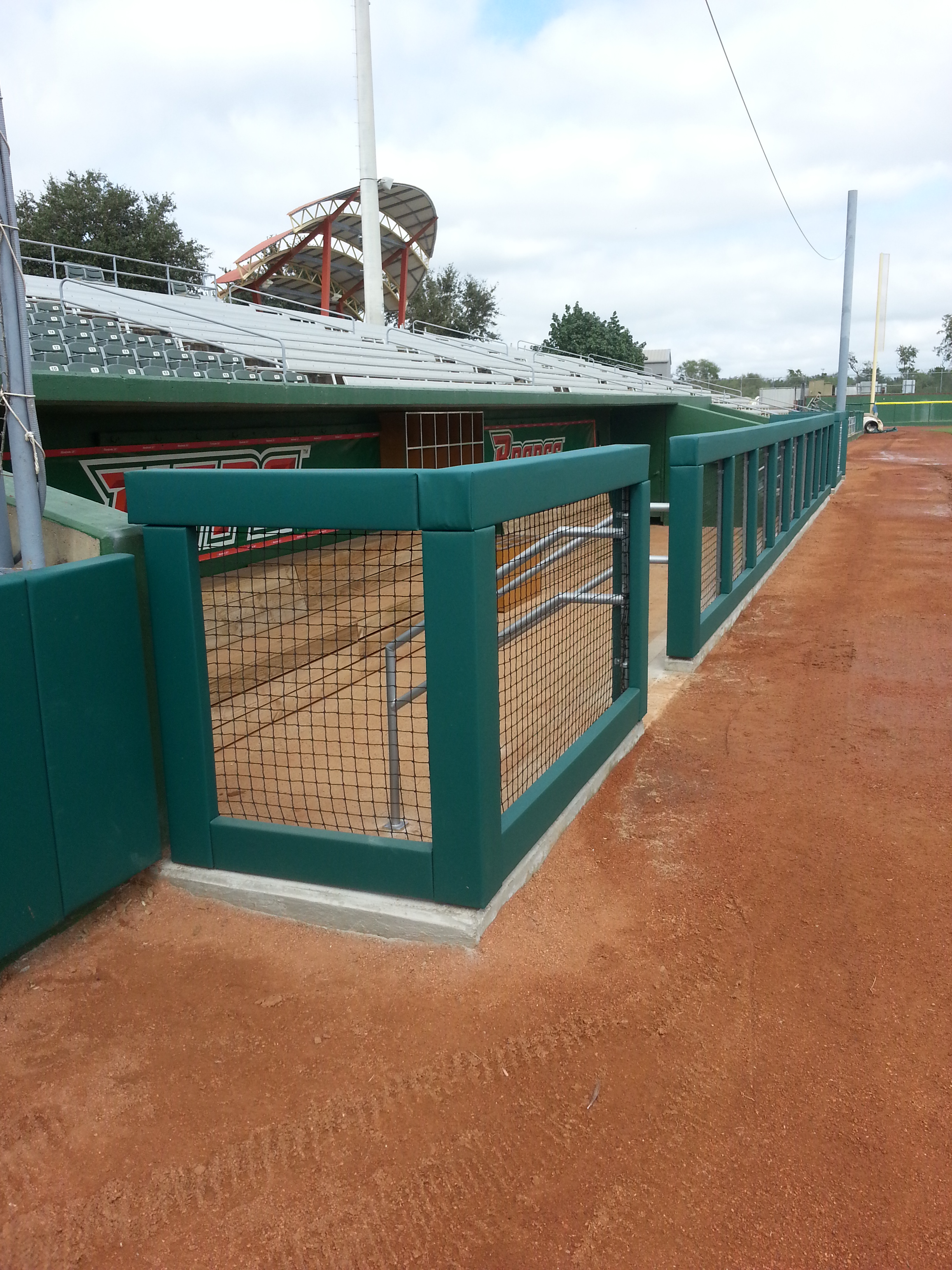 Baseball Dugout Padding | Texas Pan