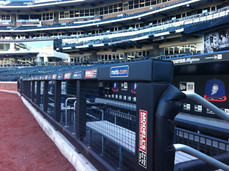 SportsVenuePadding.com   NY Mets   Field Pads   Rail Pads   Dugout   Baseball   Softball   Stadium   Facility Padding   Graphic Printing   MLB