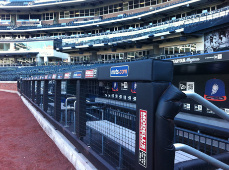 SportsVenuePadding.com | NY Mets | Field Pads | Rail Pads | Dugout | Baseball | Softball | Stadium | Facility Padding | Graphic Printing | MLB