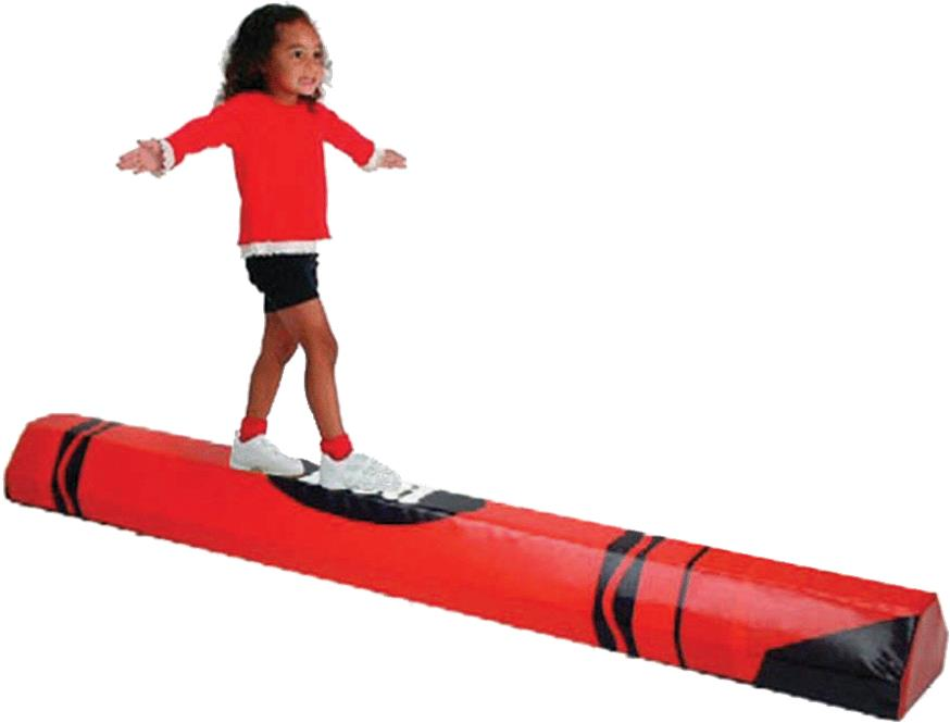 Balance Beam - Crayons - Variety of Colors - SportsVenuePadding.com 2