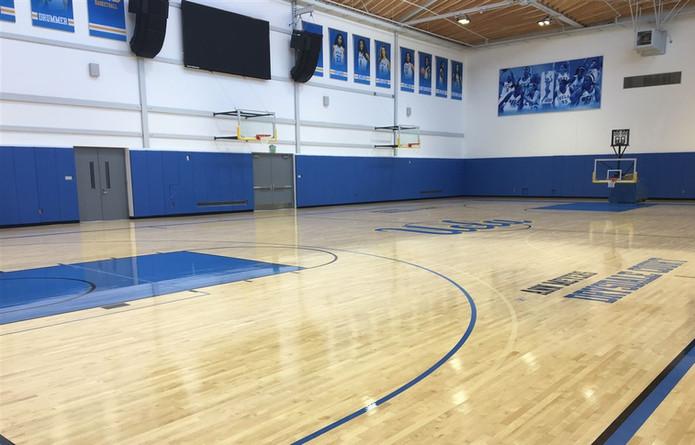 SportsVenuePadding.com   Basketball wall padding   UCLA