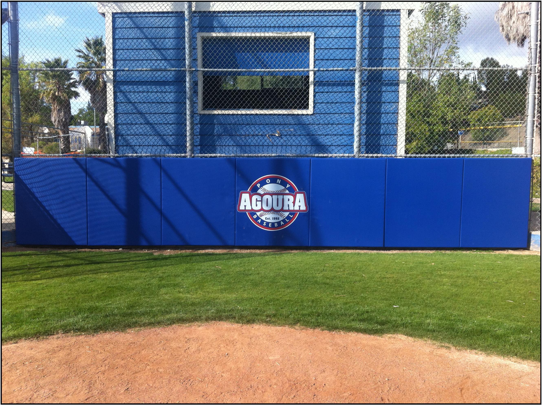 Baseball field backstop padding