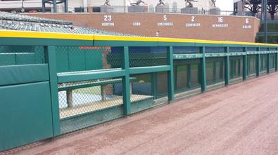 SportsVenuePadding.com   MLB   Outfield Pads   Baseball   Softball   Stadium   Facility Padding   Post pads   Rail pads   Bullpen padding   Graphic Printing