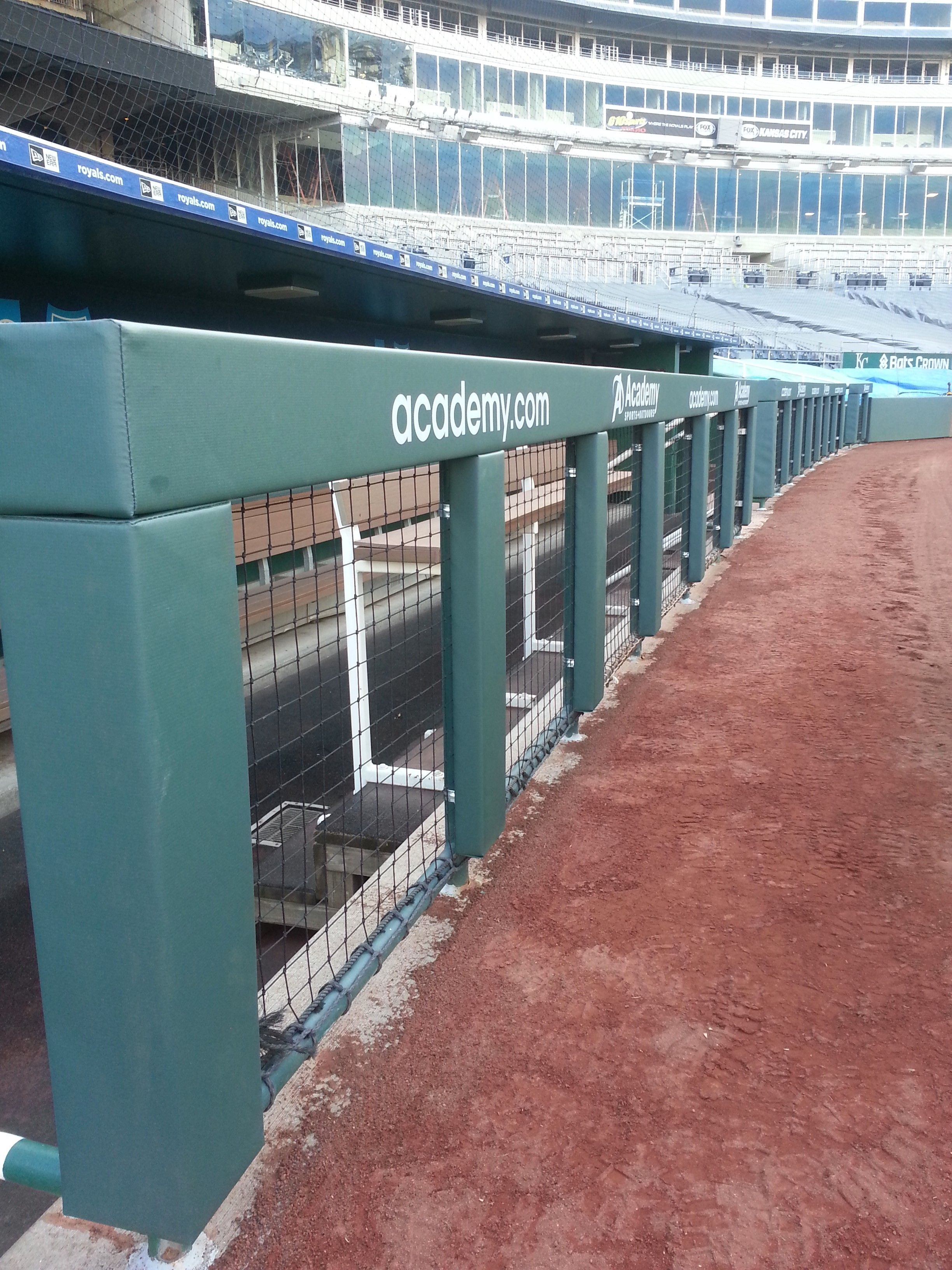 Baseball Rail Padding | KC Royals