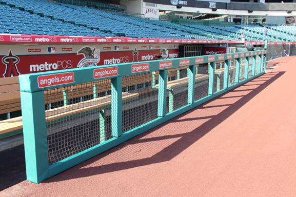 Sports Dugout Padding - Angels Field