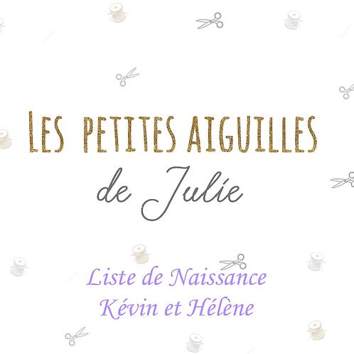 Liste de Naissance Kévin et Hélène