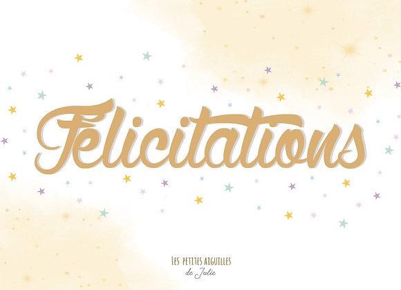 "Carte à Planter ""Félicitations"""