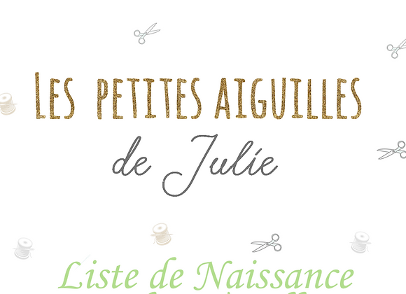 Liste de Naissance de Sophie & Gilles