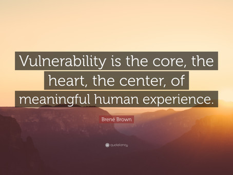 Sharing the 'unsharable': embracing our vulnerabilities as human beings