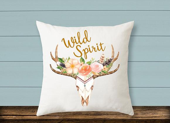 Boho Skull Pillow