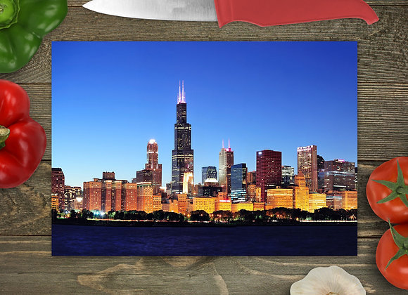Chicago Skyline Cutting Board