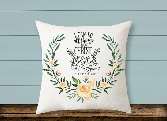 Through Christ Pillow