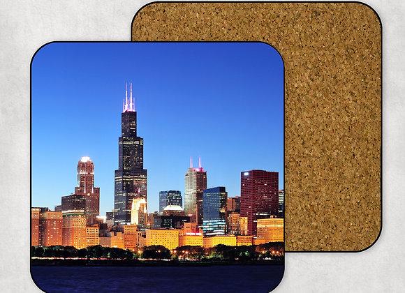 Chicago Skyline Coaster-Hardboard