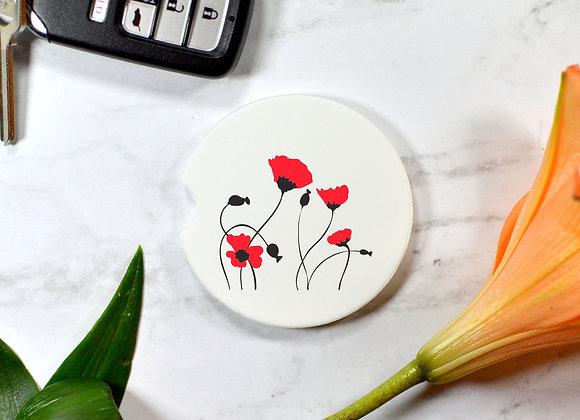 Poppies Car Coaster