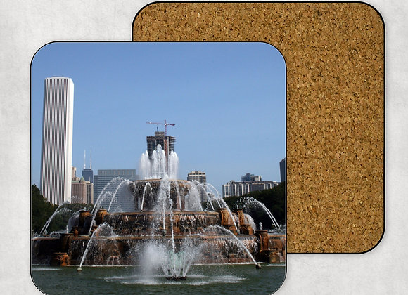 Buckingham Fountain Coaster-Hardboard