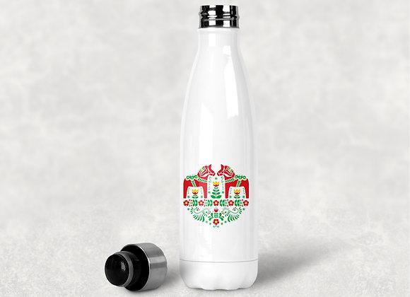 Swedish Dala Horse Water Bottle