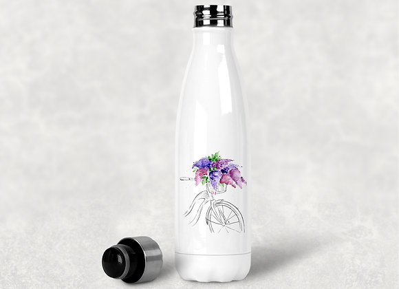 Bicycle with Lilacs Water Bottle