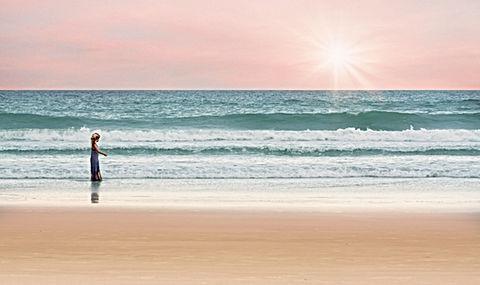 Even een momentje voor mezelf, strand, alleen