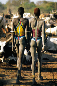 Dinka Herders with Their Cattle Carol Beckwith1977