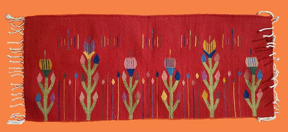Red with Tulips design -horizontal
