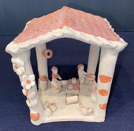Miniature Clay Outdoor Kitchen