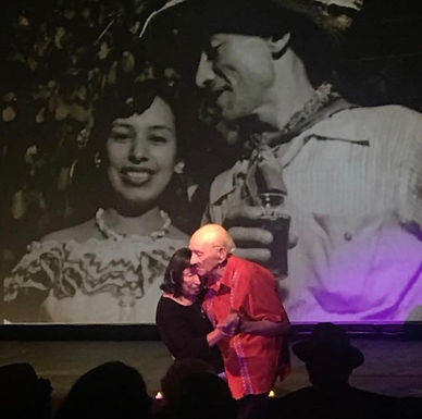 """Isabel and Enrique Sánchez, """"Still Here"""" performance, 2018"""