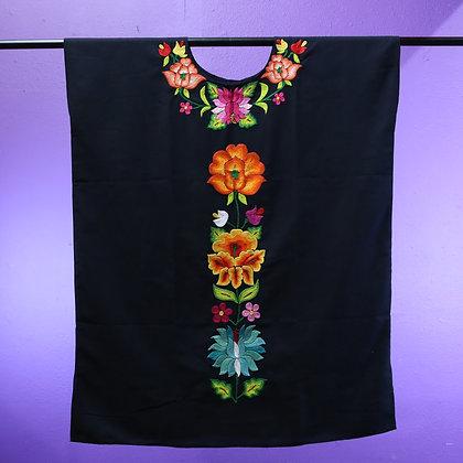Black Dress w/ Embroidery