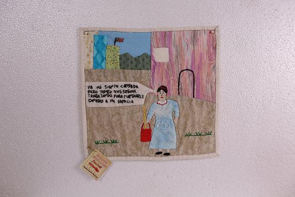 Woman w/ red purse