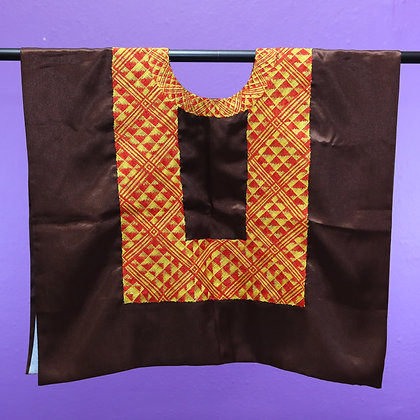 Brown w/ 1 Chain Strip Embroidered