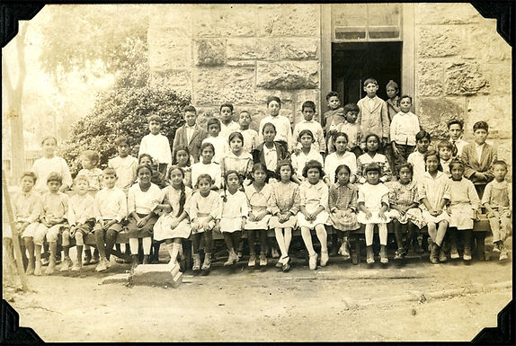 Arcadia H. Lopez attended Navarro School, here in first grade, circa 1917