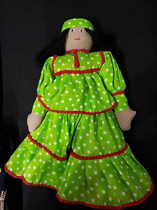 Raramuri Doll w/ green dress