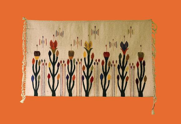 Cream with Tulips design - horizontal