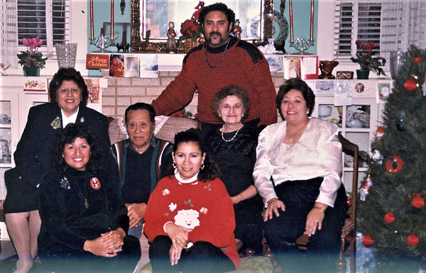 Cecilia Moreno and family on Christmas Eve, at their Tobin Hill home