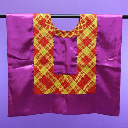 Purple w/ 1 Chain Strip Embroidered