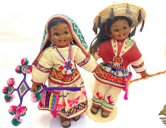 Huichol dolls (pair)