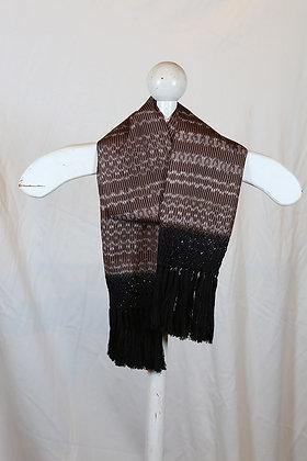 Brown, Black & White with Black Fringe